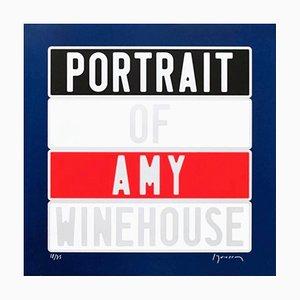 Joel Duccoroy - '' Portrait of Amy Winehouse '', Sérigraphie Signée