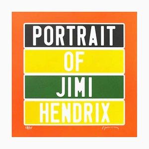Joel Duccoroy - '' Portrait of Jimi Hendrix '', Sérigraphie Signée