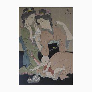 Leonard Foujita - Geishas- Original Engraving