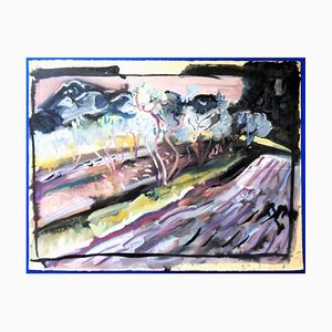Pierre Ambrogiani - Landscape With Olive Trees - Signed Painting Circa 1970