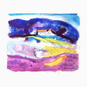 Tableau Peint Pierre Ambrogiani Circa 1970