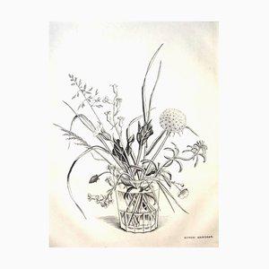 Rare Engraving - Kiyoshi Hasegawa - Spring Flowers