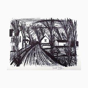 Lithographie Bernard Buffet - Farm Road - Lithographie originale Signée à la Main