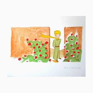 Antoine de saint Exupery - Little Prince - I Know A Flower - Litografia originale