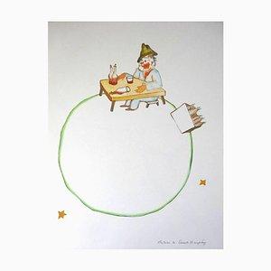 Litografia originale di Antoine de saint Exupéry - Little Prince - The Drunkard