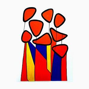 Lithographie Alexander Calder - Composition - Lithographie Originale 1972