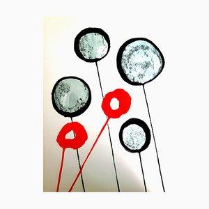 Alexander Calder - Litografía original - Behind the Mirror 1976