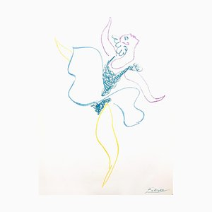 Pablo Picasso - The Ballet Dancer - Lithographie Originale 1954