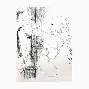 'Le Peintre et son Modèle'' - Original Lithograph 1964