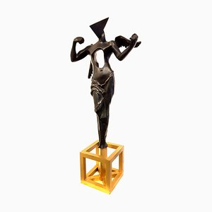 Salvador Dali - The Surrealistic Angel - Bronze Sculpture 1983