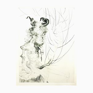 Salvador Dali - Head of Veal - Original Etching 1969