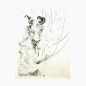 Salvador Dali - Kalbskopf - Original Radierung 1969
