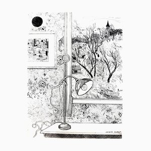 Jacques Maret - Dreamy Desk - Original Etching 1946