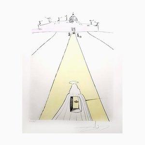 Salvador Dali - Gott, Zeit, Raum und der Papst - Original Signierte Gravur 1974