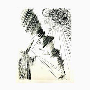 Gravure à l'Eau Forte 1979 Salvador Dali - Magician