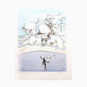 Salvador Dali - Flung out like - Original Signed Engraving 1974