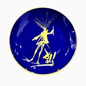 Faust - Porcelaine de Limoges Bleu et Or 1968