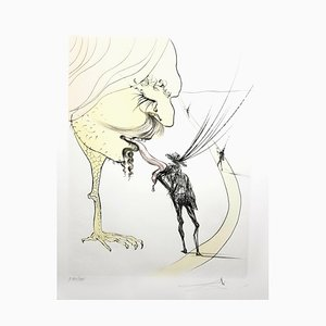 Salvador Dali - Picasso: A Ticket to Glory - Signierte originale Radierung 1974