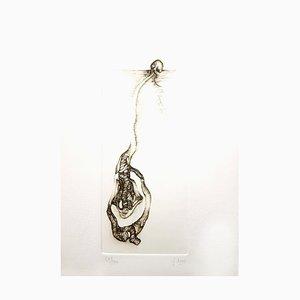 Fred Deux - Gray Surrealism III - Signierte Original Radierung
