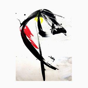 Jean Miotte - Composición abstracta - Original aguafuerte años 70