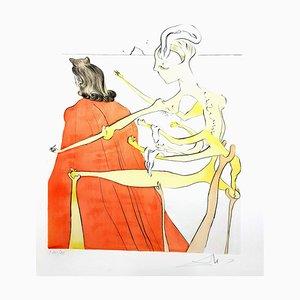 Salvador Dali - The Divine Back of Gala - Signierte originale Radierung 1974