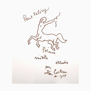 Lithographie Jean Cocteau - For Paul Valery 1958