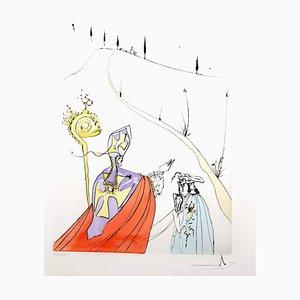 Salvador Dali - The Sacred Love of Gala - Original Signed Engraving 1974