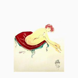 Domergue - Elegance - Signierte originale Lithographie von 1956