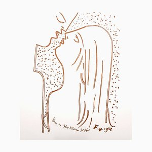 Jean Cocteau - The Kiss - Original Lithograph 1958