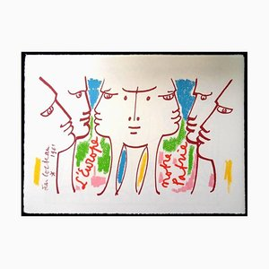 Jean Cocteau - Europe Our Homeland - Original Lithograph 1961
