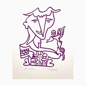 Charles Lapicque - Original Handsignierte Lithographie - Ecole de Paris Circa 1960