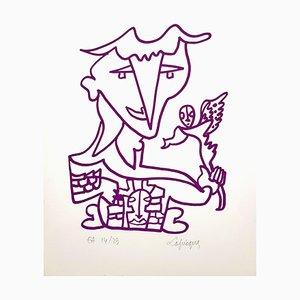 Lithographie Signée Originale par Charles Lapicque - Ecole de Paris Circa 1960