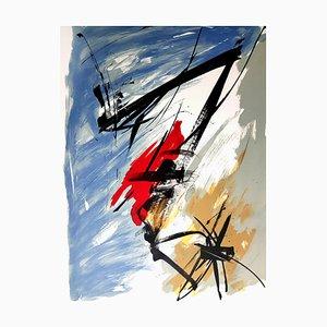 Composition Composition Abstraite - Gravure Aquatinte Originale, 1970s