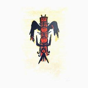 Wifredo Lam - Original Handsignierte Lithographie -El ultimo viaje del buque fantasma 1976