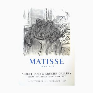 Exhibition Poster - ''Henri Matisse - Drawings - New-York'' 1967