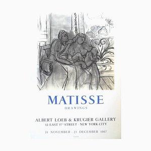 Vintage Ausstellungsplakat - '' Henri Matisse - Drawings - New-York '' 1967