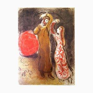 Marc Chagall - Treffen von Ruth und Boaz - Original Lithographie 1960