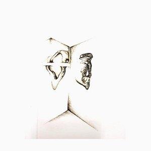 Fred Deux - Grey Surrealism I - Signierte Original Radierung