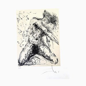 Kneeling Nude - Le Pecheur - Original Handsigned Lithograph 1967