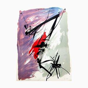 Composition de Jean Miotte - Abstract Composition - Original Lithograph Signs 1970s
