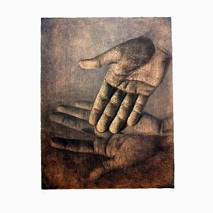 Lithographie Isia Leviant - Hands-Sign Circa 1970