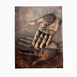 Litografia Isia Leviant - Hands - Signed Circa 1970
