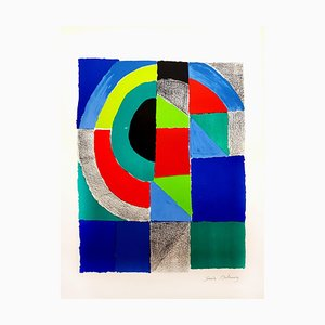 Sonia Delaunay - Colorful Composition - Signed Original Lithograph C.1960