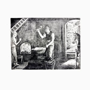 Hermine David - Workers - Original Etching 1946