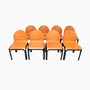 German Chairs by Gae Aulenti for Knoll, Set of 8