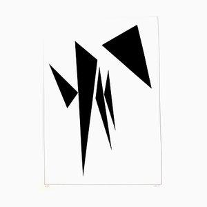 Geneviève Claisse - Minimalistische Komposition - Signierte Originale Lithographie