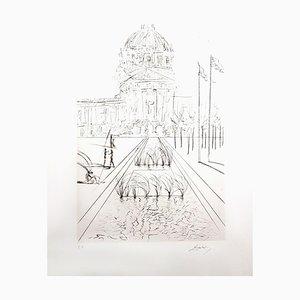Incisione originale firmata a mano, Salvador Dali, 1972