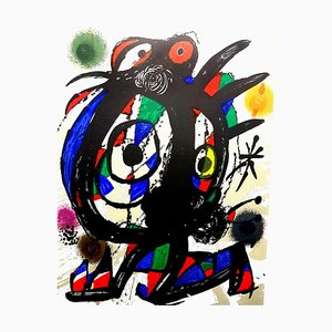 Joan Miro - Original Abstract Lithograph 1976