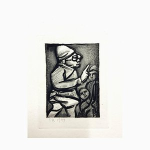Incisione Georges Rouault - Incisione originale - Ubu the King 1929