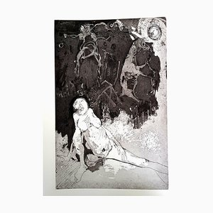 Gravure à l'Eau-Forte Jean Jansem 1974